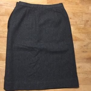 Pendleton Vintage wool herringbone tweed skirt